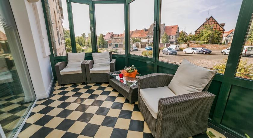 "Balcony/terrace Hotel & Restaurant ""Deutscher Kaiser"""