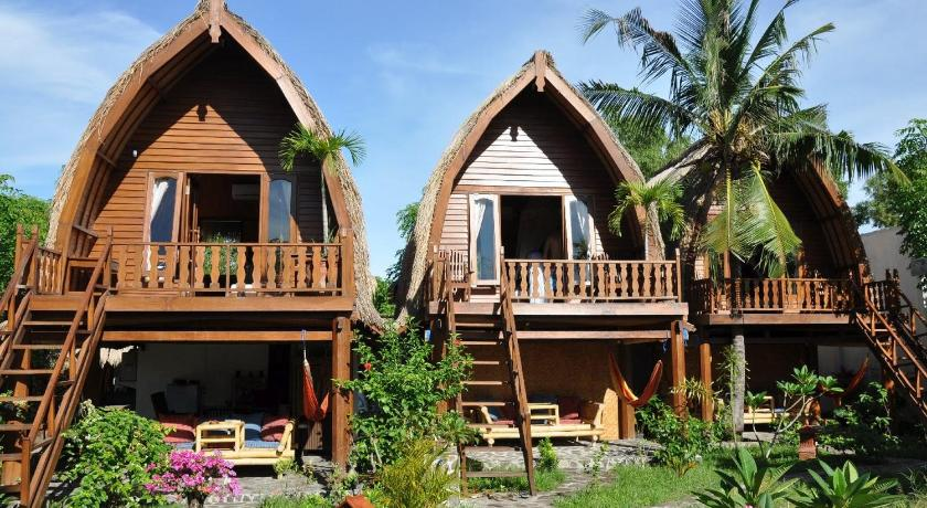 Ozzy Cottages And Bungalows Gili Part - 45: Gili Trawangan Map And Hotels In Gili Trawangan Area U2013 Lombok