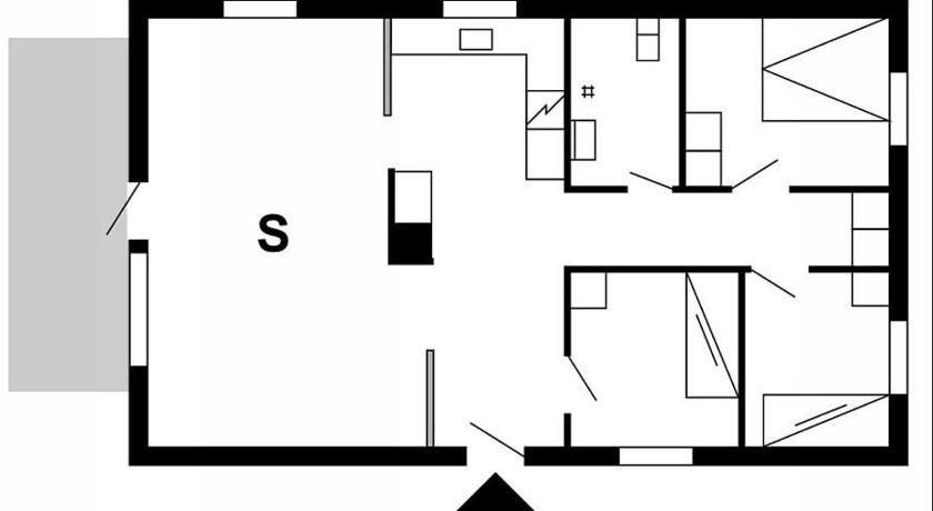 Two-Bedroom Apartment - Floor plans Holiday home Bækbyvej 61