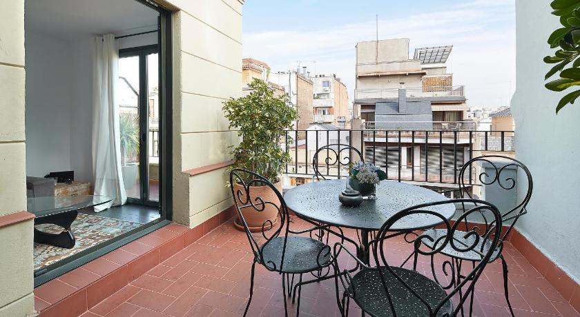 Balcony/terrace C211 Barcelona Apartments