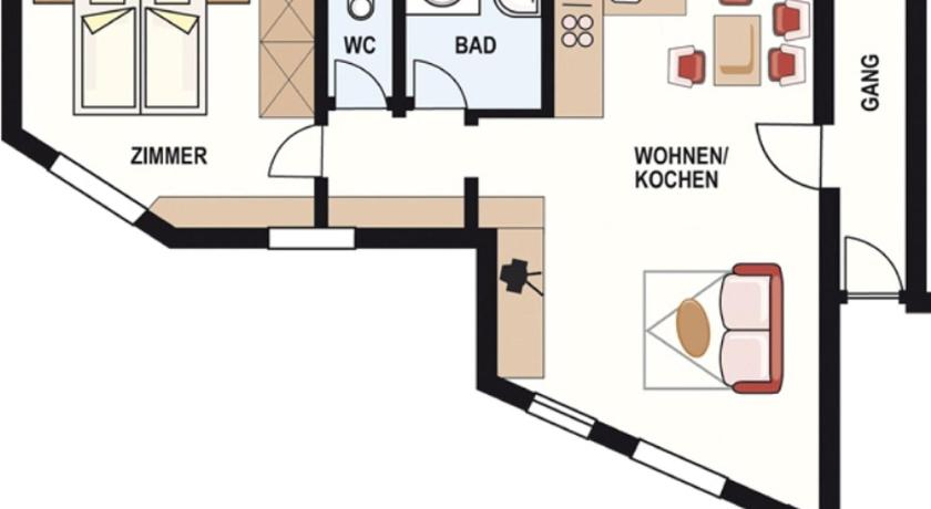 Deluxe Apartment - Floor plans Apart Andrea