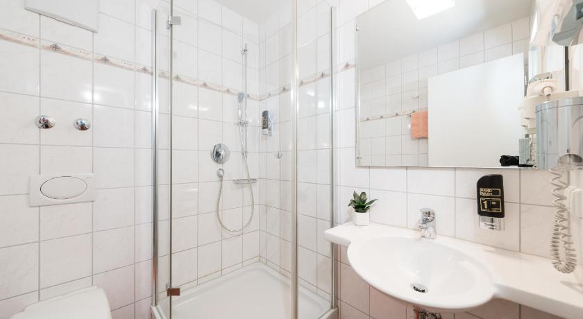 Business Single Room - Shower Hotel Vater Rhein