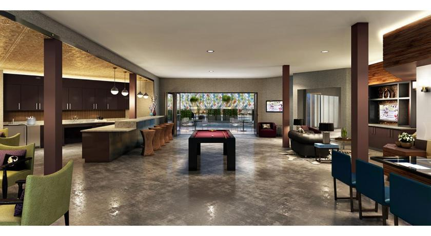 Lobby Two Bedroom Midtown Apartment with Rooftop Pool - MT02