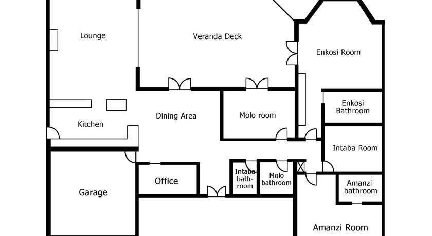Double Room With Private External Bathroom - Floor plans Epic Guest House