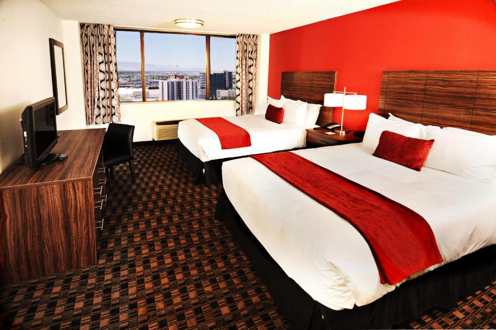 Book Now The D Las Vegas Hotel Casino (Las Vegas, United States). Rooms Available for all budgets. Located in the downtown Las Vegas area just steps from the world-famous Freemont Street Experience The D Las Vegas Casino Hotel - A Lexington Legacy Hotel is a lively choice f