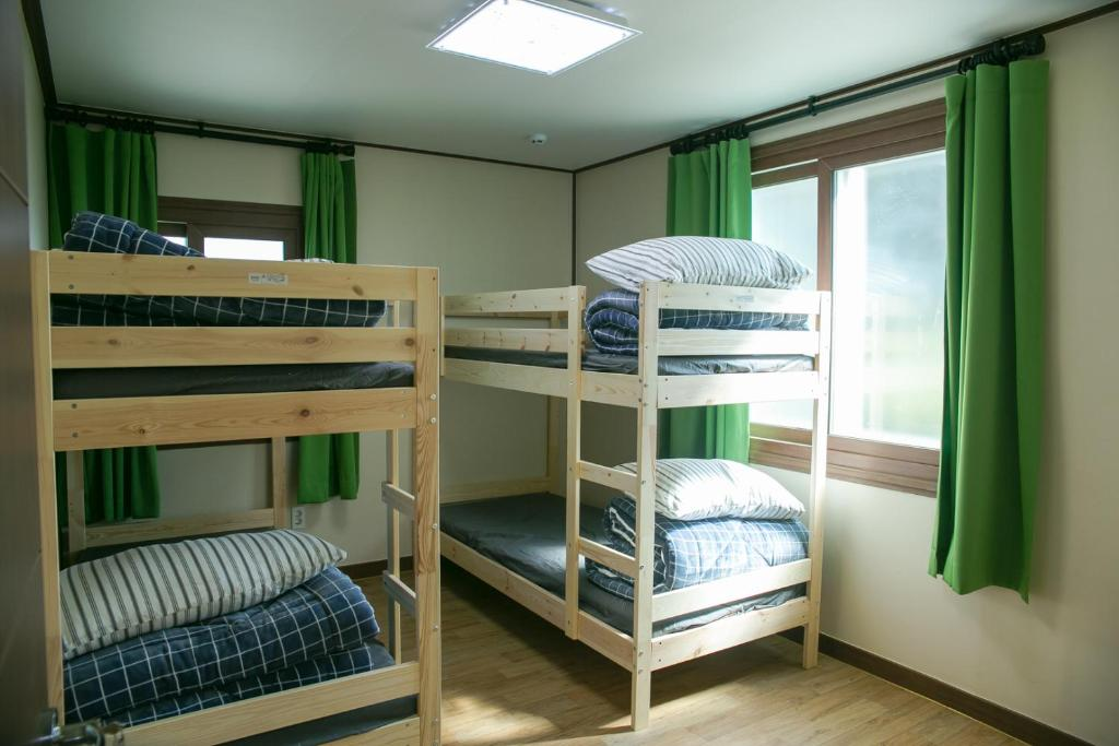 Bed in 4-Bed Male Dormitory Room Baramsori Guesthouse