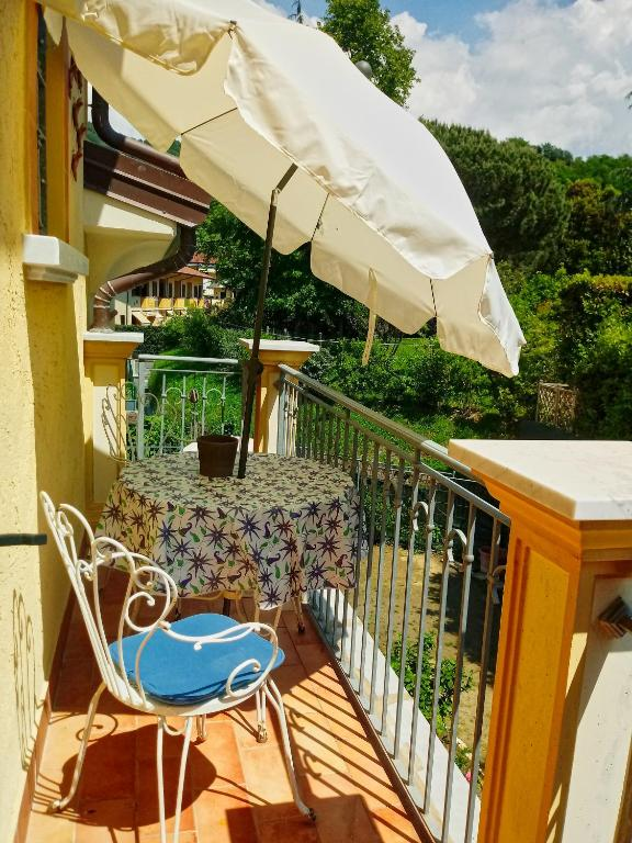 balkon/terras Sally's B&B