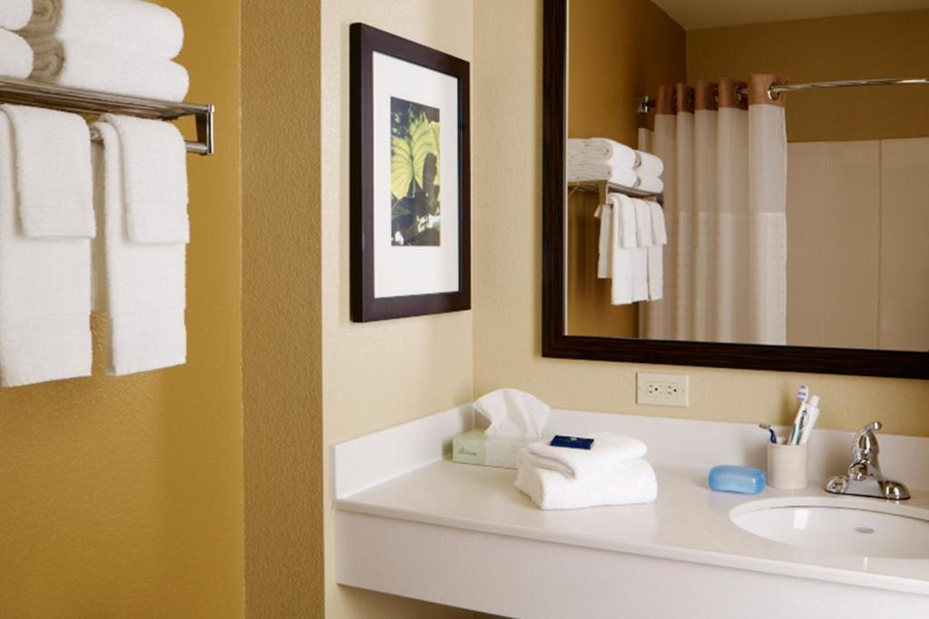 Casa de banho Extended Stay America Pleasanton Chabot Dr