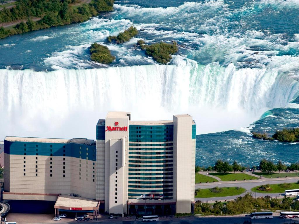 Book Now Niagara Falls Marriott Fallsview Hotel & Spa (Niagara Falls, Canada). Rooms Available for all budgets. Our guests enjoy an indoor pool comfy beds a spa with two hot tubs on-site dining and a location facing the Horseshoe Falls at the non-smoking Niagara Falls Marriott Fallsview