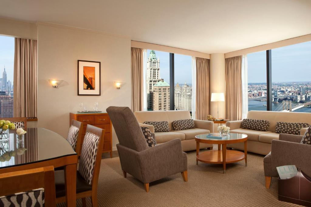 Book Now Millennium Hilton New York Downtown (New York City, United States). Rooms Available for all budgets. Plush beds city views an indoor pool and the 9/11 Memorial right next door make fans of our guests at the Millennium Hilton New York Downtown. Towering 55 floors over downtown