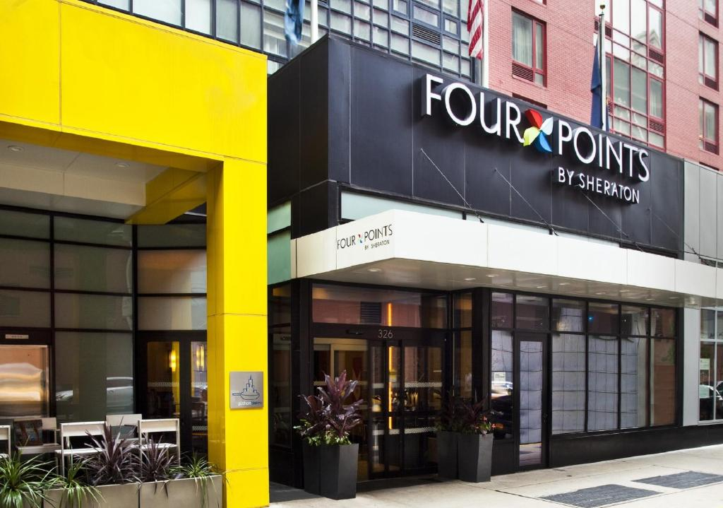 Book Now Four Points By Sheraton Midtown - Times Square (New York City, United States). Rooms Available for all budgets. Plush beds and a rooftop bar two blocks south of Times Square are part of what make a satisfying stay for our guests at the non-smoking Four Points by Sheraton Midtown. The 33