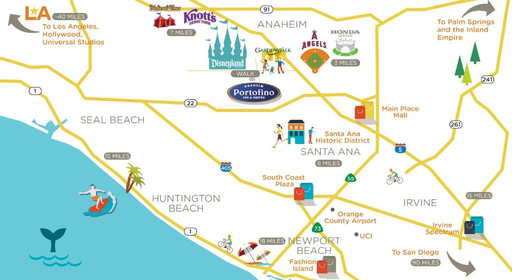 PORTOFINO INN SUITES Anaheim CA 1831 South Harbor 92802