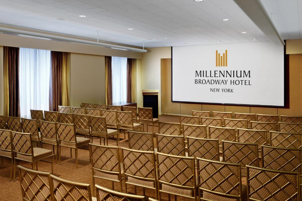 Book Now Millennium Broadway New York Times Square (New York City, United States). Rooms Available for all budgets. City views a 24-hour gym free Wi-Fi and a killer Manhattan location take the stage at the non-smoking Millennium Broadway New York Times Square. The Millennium Broadway towers