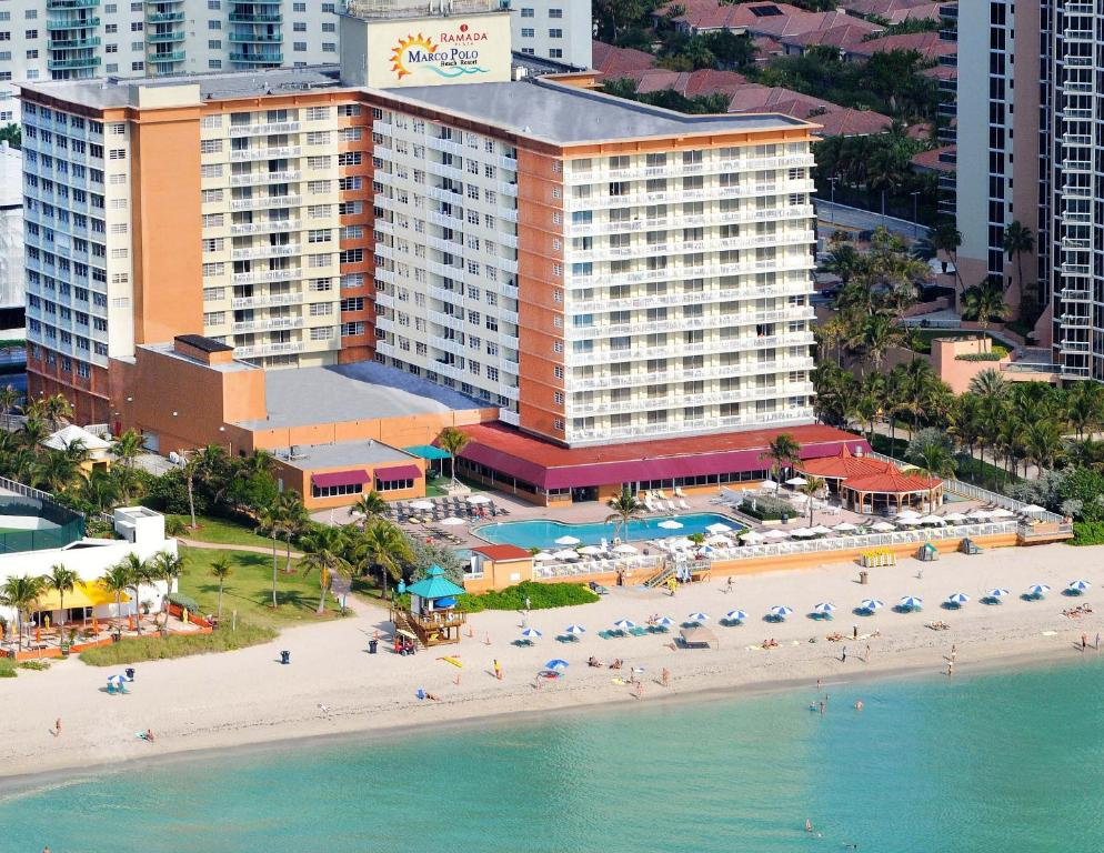 Book Now Ramada Plaza Marco Polo Beach Resort (North Miami Beach, United States). Rooms Available for all budgets. Situated directly on the Atlantic Ocean this Florida resort boasts 400 feet of private beach and an outdoor pool. The property is also 9.2 km from Downtown Hollywood and 13.3