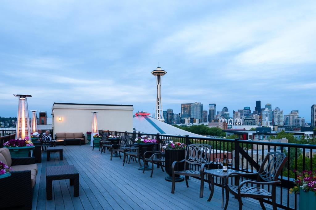 Book Now The Mediterranean Inn (Seattle, United States). Rooms Available for all budgets. Located just 800 metres away from The Space Needle this Seattle hotel features a rooftop patio with breathtaking views of the Seattle Skyline Mount Rainier the Olympic Mountai