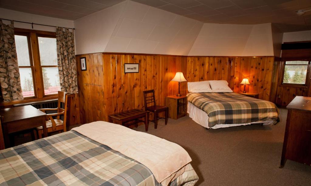 Book Now Num-Ti-Jah Lodge (Lake Louise, Canada). Rooms Available for all budgets. Remotely located along the Icefields Parkway on Bow Lake this lodge features the Elkhorn Dining Room. This lodge is situated in the mountains and hiking and fishing are availa