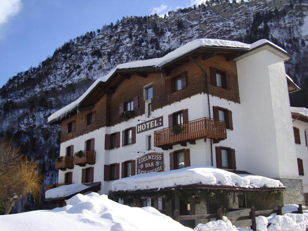 Book Now Hotel Edelweiss (Pre Saint Didier, Italy). Rooms Available for all budgets. Set in Pré-Saint-Didier Hotel Edelweiss features an 800 m² garden and provides a free shuttle to the town's thermal spa where guests have discounts. Parking and Wi-F