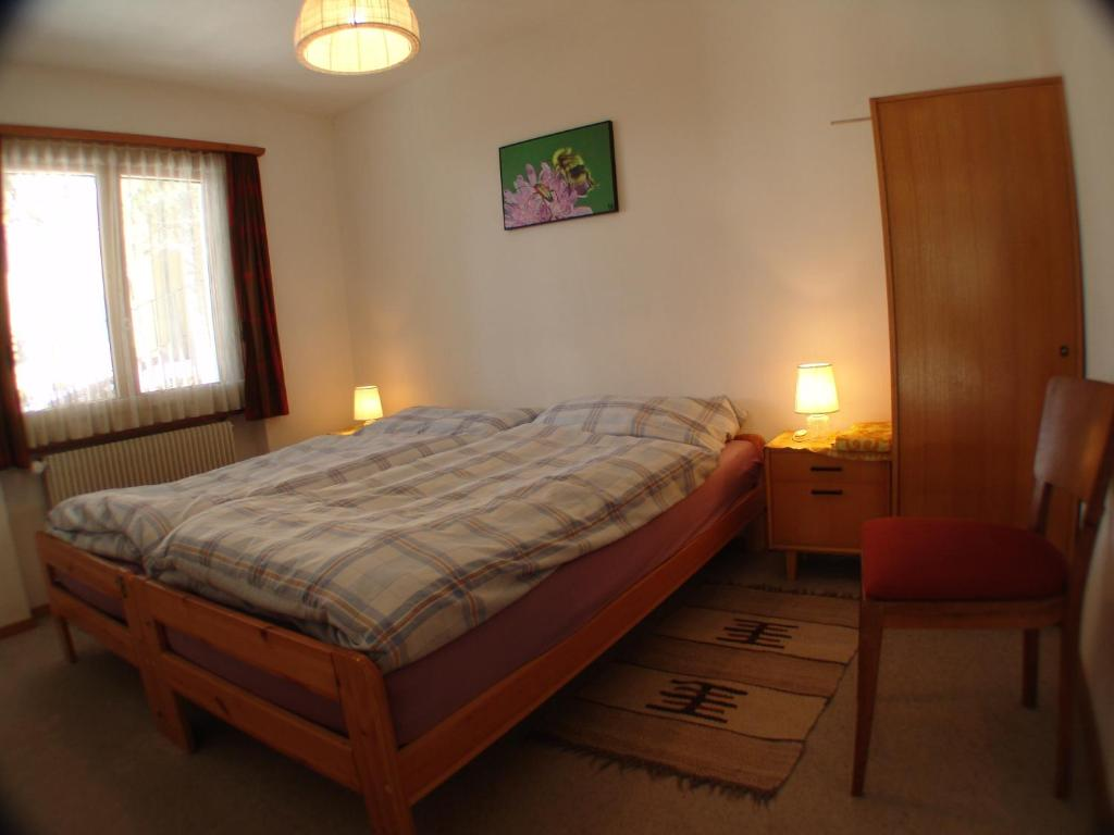 Twin Room with Shared Bathroom - Guestroom Chesa Albris Bed & Breakfast