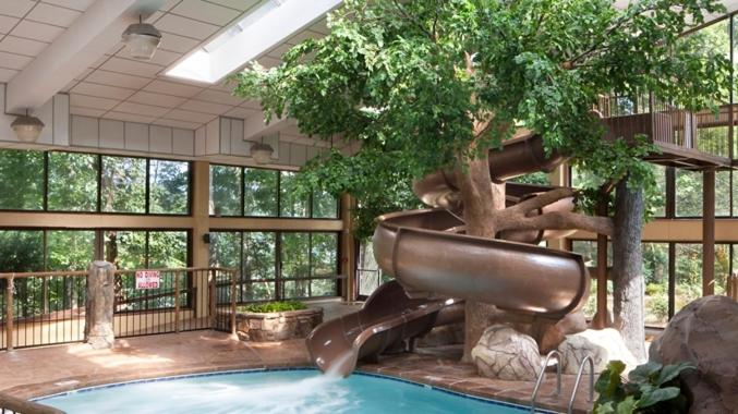 Book Now The Park Vista - A Doubletree Hotel - Gatlinburg (Gatlinburg, United States). Rooms Available for all budgets. Superb views a lagoon pool high-tech rooms and a trolley into downtown make the Park Vista - a DoubleTree Hotel - Gatlinburg one of the hottest tickets in town with our guests