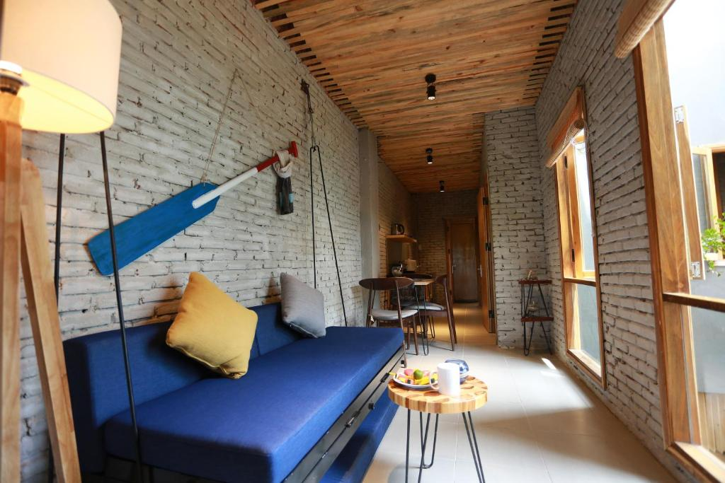 独立客厅 One Bedrooms Balcony Apartment- Denim House