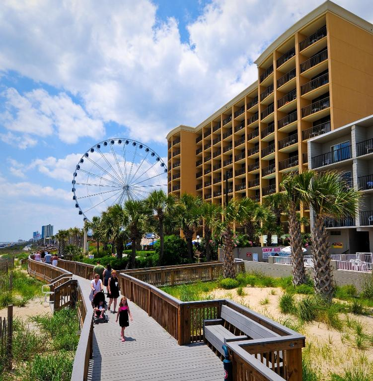 Book Now Holiday Inn at the Pavilion - Myrtle Beach (Myrtle Beach, United States). Rooms Available for all budgets. This Myrtle Beach hotel is located on the Oceanfront Boardwalk and Promenade which is also home to a variety of shops and restaurants. Guests will enjoy indoor and outdoor poo