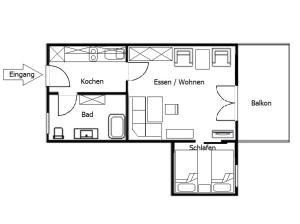Landhaus Vogelweide - 2 Zimmer mit Balkon, Apartments  Bad Füssing - big - 4