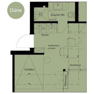 Haus-LIV-Appartement-Duene, Apartmány  Westerland - big - 4