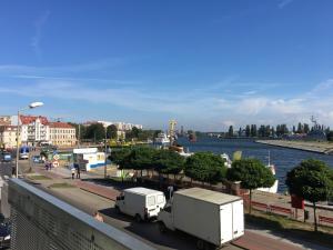 Ferienwohnung mit Blick auf Hafen