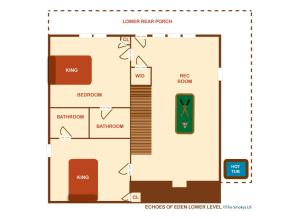 Echoes of Eden - Four Bedroom, Holiday homes  Sevierville - big - 23
