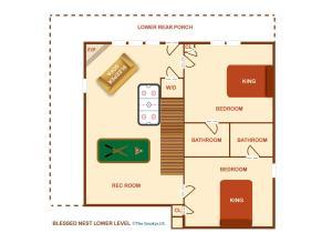 Blessed Nest - Four Bedroom, Ferienhäuser  Sevierville - big - 31