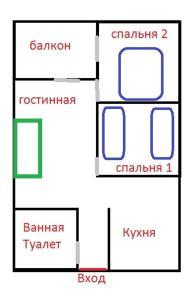 Kukito's apartment / 3K, Apartmanok  Batumi - big - 23