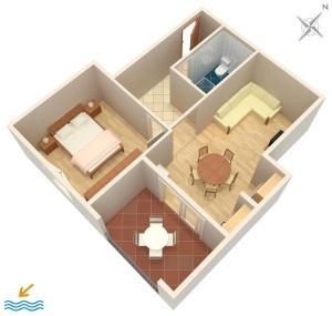 Apartment Tribunj 4201a, Apartments  Tribunj - big - 14