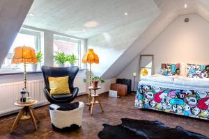 Studio på loftet i två plan