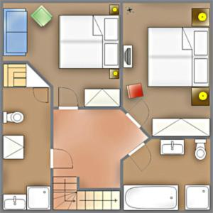 _Klingler_s Hues_ App_ 1_ EG links, Apartmanok  Wenningstedt - big - 7