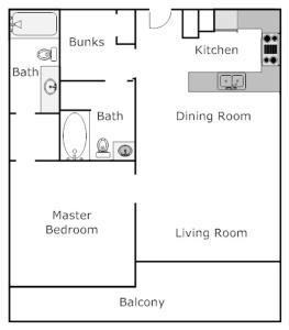 Tidewater 1309 Condo, Apartments  Panama City Beach - big - 10