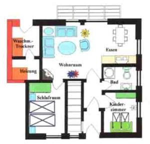 Haus Anke Wohnung 3, Apartments  Midlum - big - 3