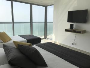 Lujo Morros City Aptos Frente La Playa Bocagrande, Apartmány  Cartagena de Indias - big - 12