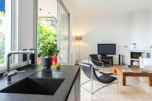 Superbe appartement villa Nice / Villefranche, Апартаменты  Ницца - big - 3