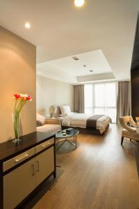 Mengwan Harbor Apartment, Apartmanok  Csingtao - big - 31