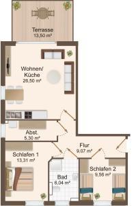 Haus Baltic Cube, Apartmány  Börgerende-Rethwisch - big - 2
