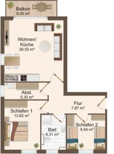 Haus Baltic Cube, Appartamenti  Börgerende-Rethwisch - big - 5