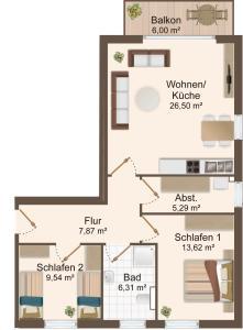 Haus Baltic Cube, Apartmány  Börgerende-Rethwisch - big - 7