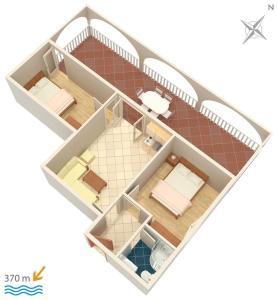 Apartment Vinisce 4886b, Apartments  Vinišće - big - 22
