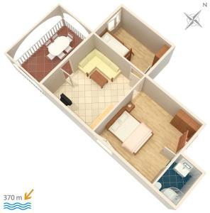 Apartment Vinisce 4886a, Апартаменты  Винисце - big - 11