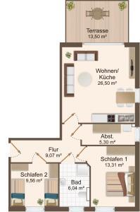 Haus Baltic Cube, Apartmány  Börgerende-Rethwisch - big - 8