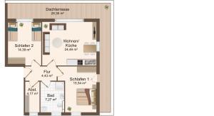 Haus Baltic Cube, Apartmány  Börgerende-Rethwisch - big - 9