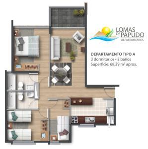 Apartamento Condominio Lomas De Papudo, Apartments  Papudo - big - 34
