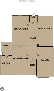 Wohnung Malchow - [#65845], Apartmanok  Borkow - big - 39