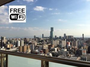 5 min Namba/tower app upper floor! Superb view!, Ferienwohnungen  Osaka - big - 18