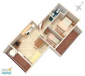 Apartment Vinisce 5229b, Ferienwohnungen  Vinišće - big - 19